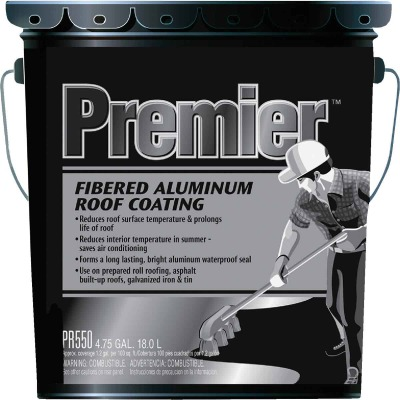Premier 5 Gal. Fibered Aluminum Roof Coating