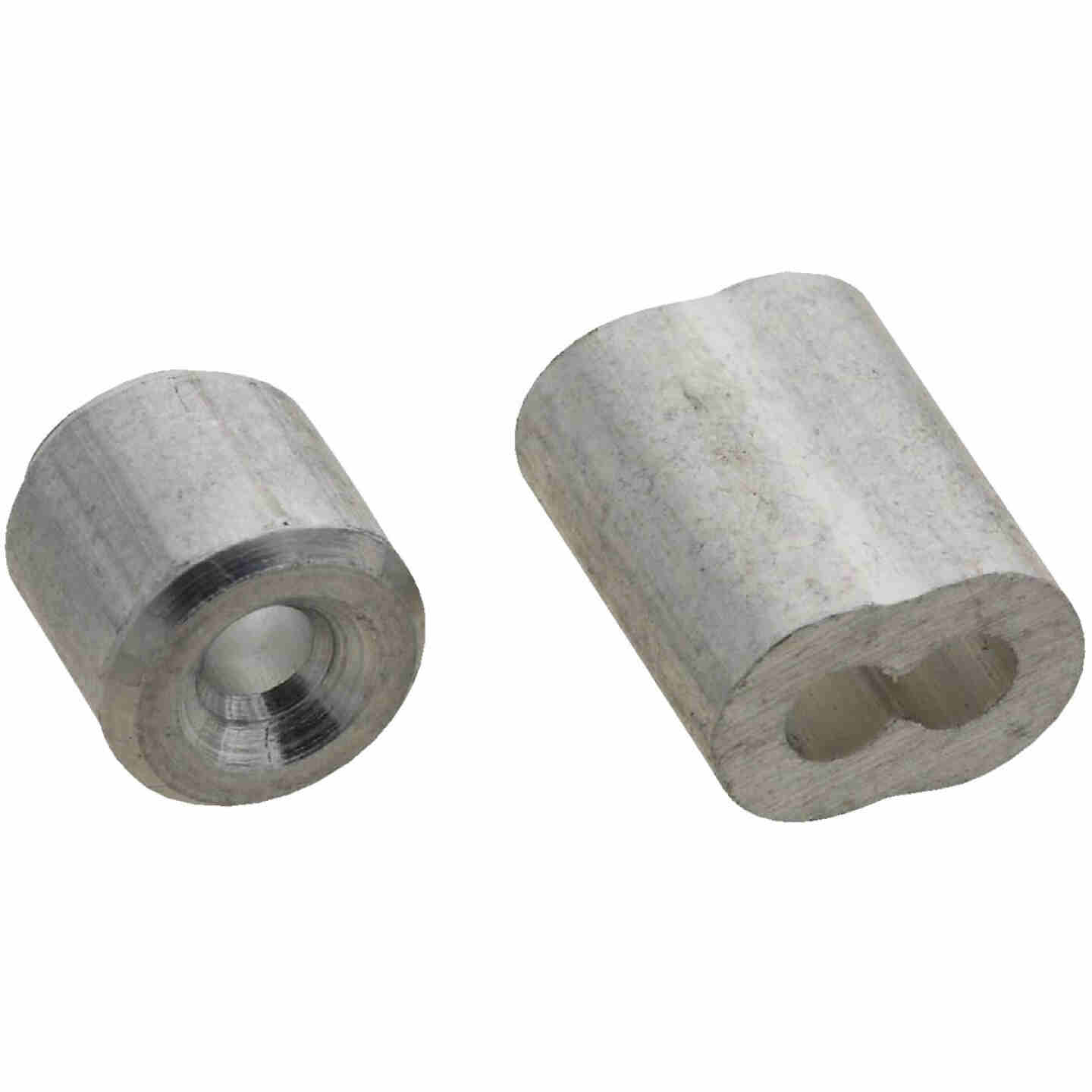 "Prime-Line Cable Ferrules and Stops, 3/32"", Aluminum Image 1"