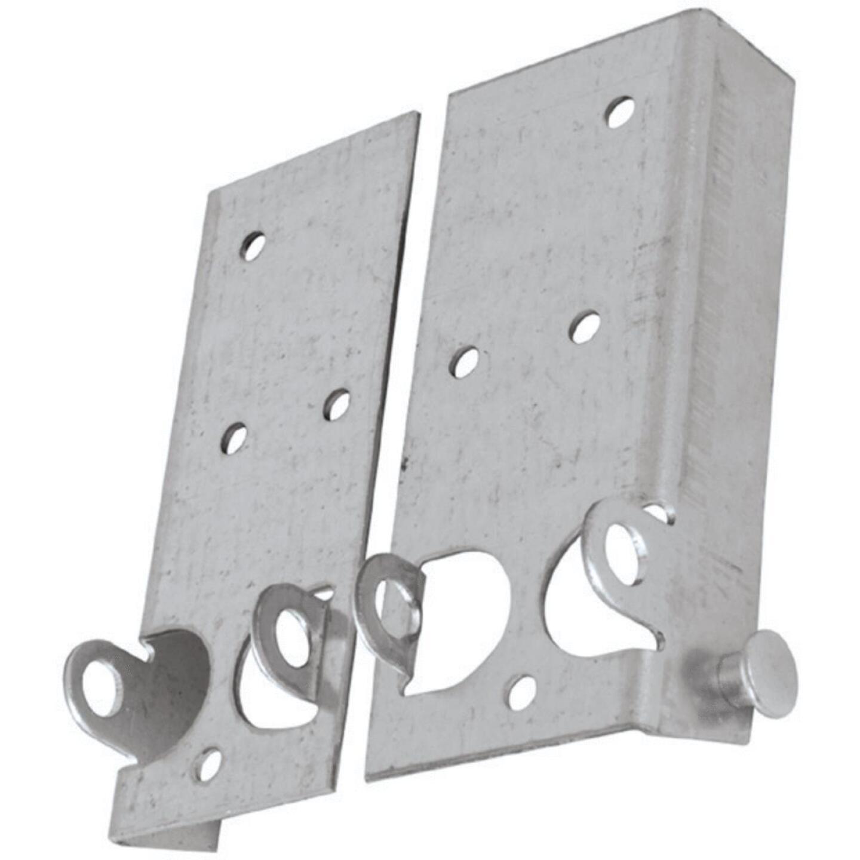 National Galvanized Steel Right & Left Hand Bottom Lift & Roller Bracket For Wood & Metal Garage Door Image 2