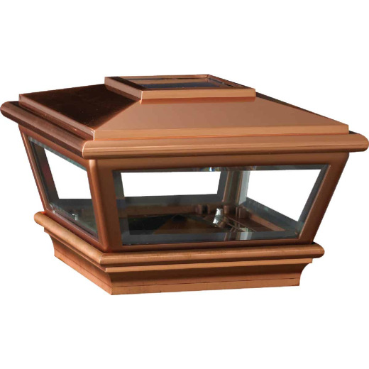 Deckorators Versacap 6 In. x 6 In. Copper Solar Post Cap