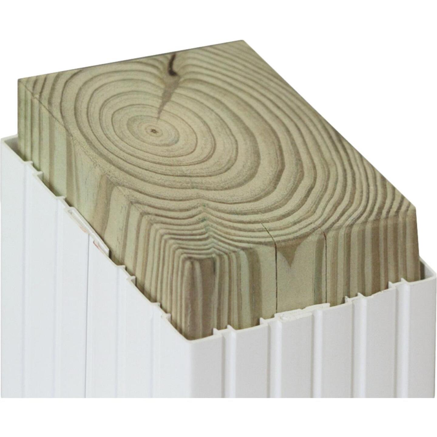 Beechdale 4 In. W x 4 In. H x 102 In. L White PVC Fluted Post Wrap Image 2
