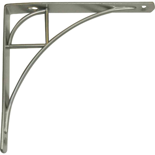 Knape & Vogt 200 Series Oak Park 8 In. Satin Nickel Steel Shelf Bracket