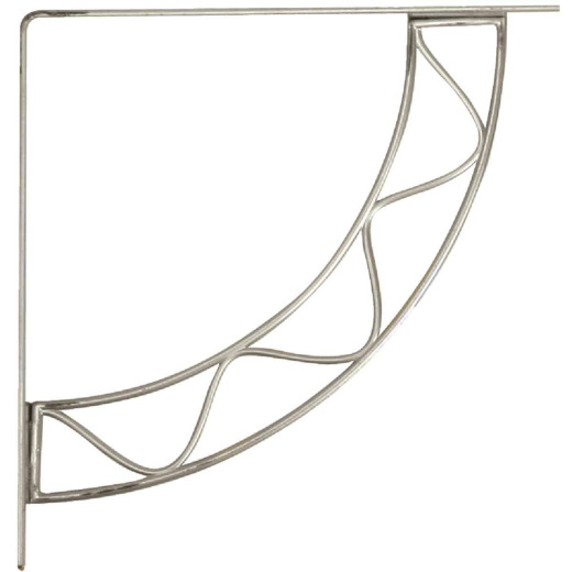 Knape & Vogt 200 Series Stockton 8 In. Satin Nickel Steel Shelf Bracket