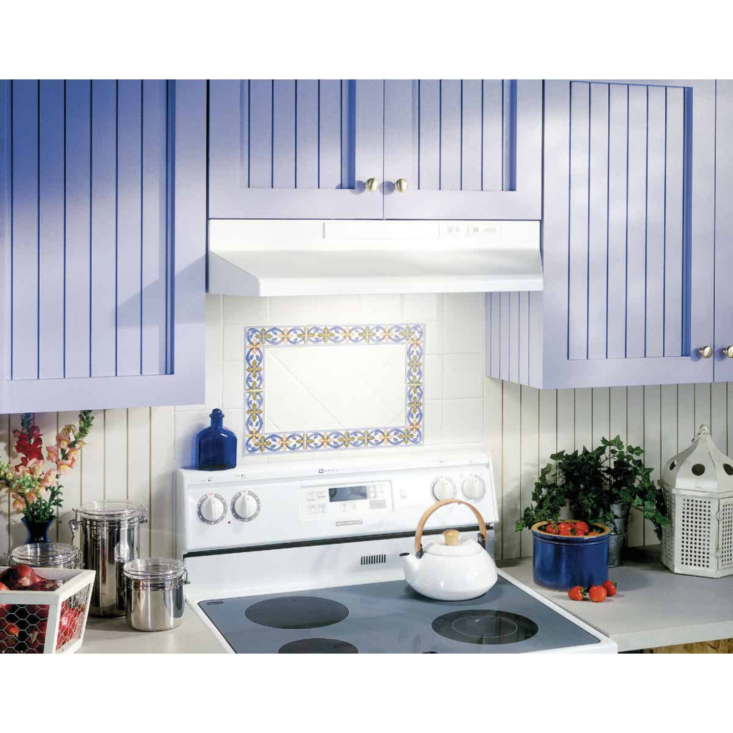 Broan-Nutone F Series 30 In. Convertible White Range Hood Image 2