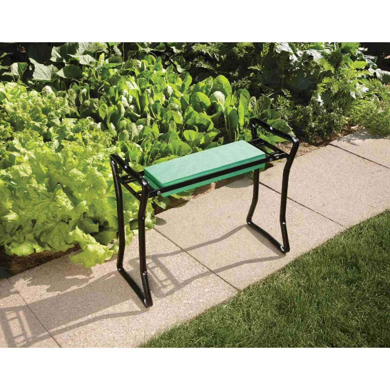 Best Garden Green Foam Pad w/Black Steel Frame Garden Kneeler Bench Image 4