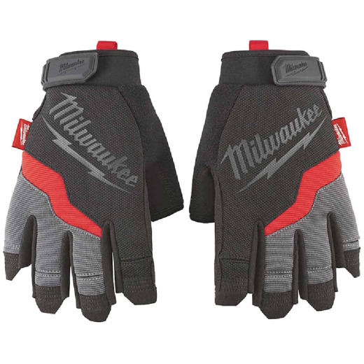 Milwaukee Performance Men's Medium Synthetic Fingerless Work Glove
