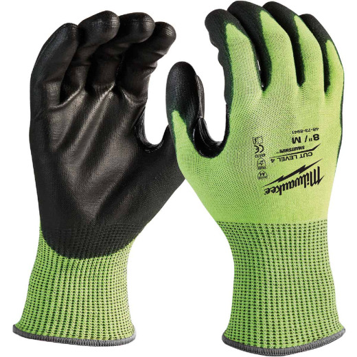 Milwaukee Men's Medium Cut Level 4 High Vis Nitrile Dipped Glove