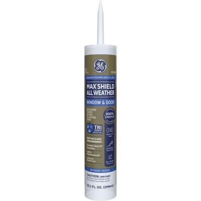 GE Max Shield All Weather 10.1 Oz. Clear Window & Door Advanced Polyer Acrylic Latex Sealant
